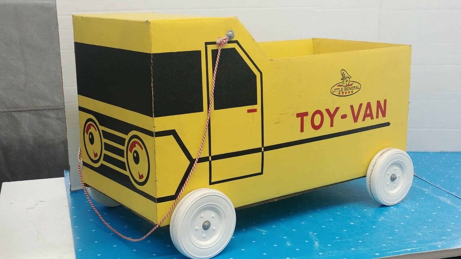 1960's Little General gituttio giocattolo Van autodtavola giocattolo Storage Pull Vehicle