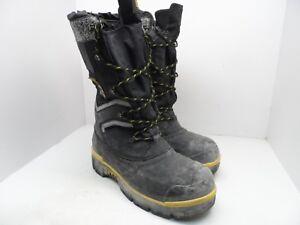 eaffcb9bd Details about DAKOTA Men's 8530 Steel Toe Steel Plate Safety Winter Felt  Pack Boots Black 10M