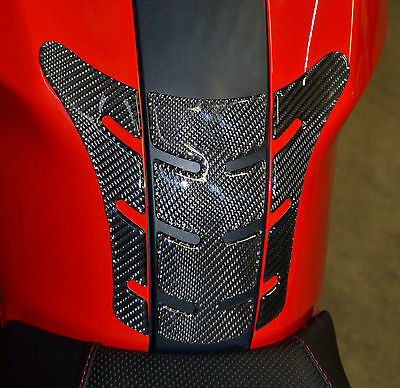 Ducati Monster Real Carbon Fiber tank Pad Protector Sticker  trim guard
