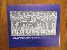 1977 Albion College Men's Basketball Program(15 Signed/MIKE TURNER/TONY KERN)