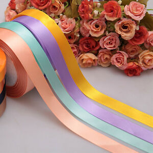Sale-Multicolor-Nice-25-Yards-A-Role-Unique-Satin-Ribbon-Craft-10mm-15mm-g