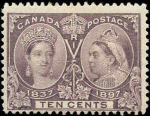 1897-Mint-NH-Canada-F-Scott-57-10c-Diamond-Jubilee-Stamp