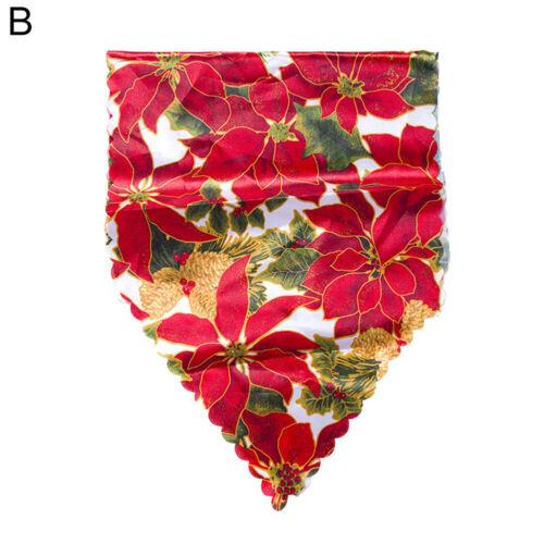 Km /_ Weihnachten Glocke Blumen Santa Dekor Tischdecke Party Esstisch Läufer Cov