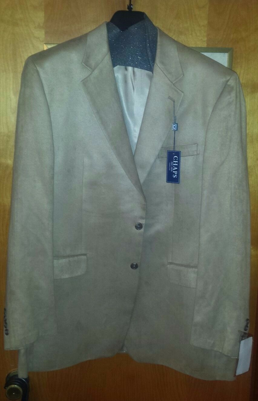 Herren SPORT COAT CHAPS CHAMOIS 46 LONG NEW WITH TAGS SUEDE LOOK