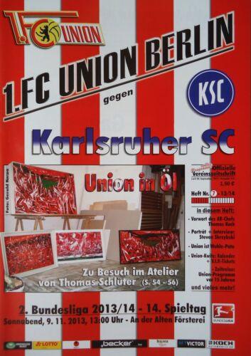 Karlsruher SC Programm 2013//14 Union Berlin