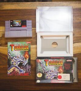 Super-Turrican-SNES-Complete-Box-Manual-CIB-Super-Nintendo-1993-Seika-Lot-B-wrap