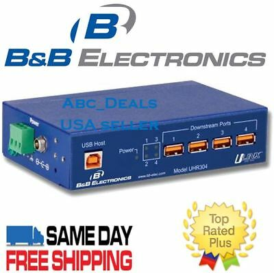 B/&B Electronics UHR304 Industrial 4-Port USB Full Speed Isolated Hub USA seller