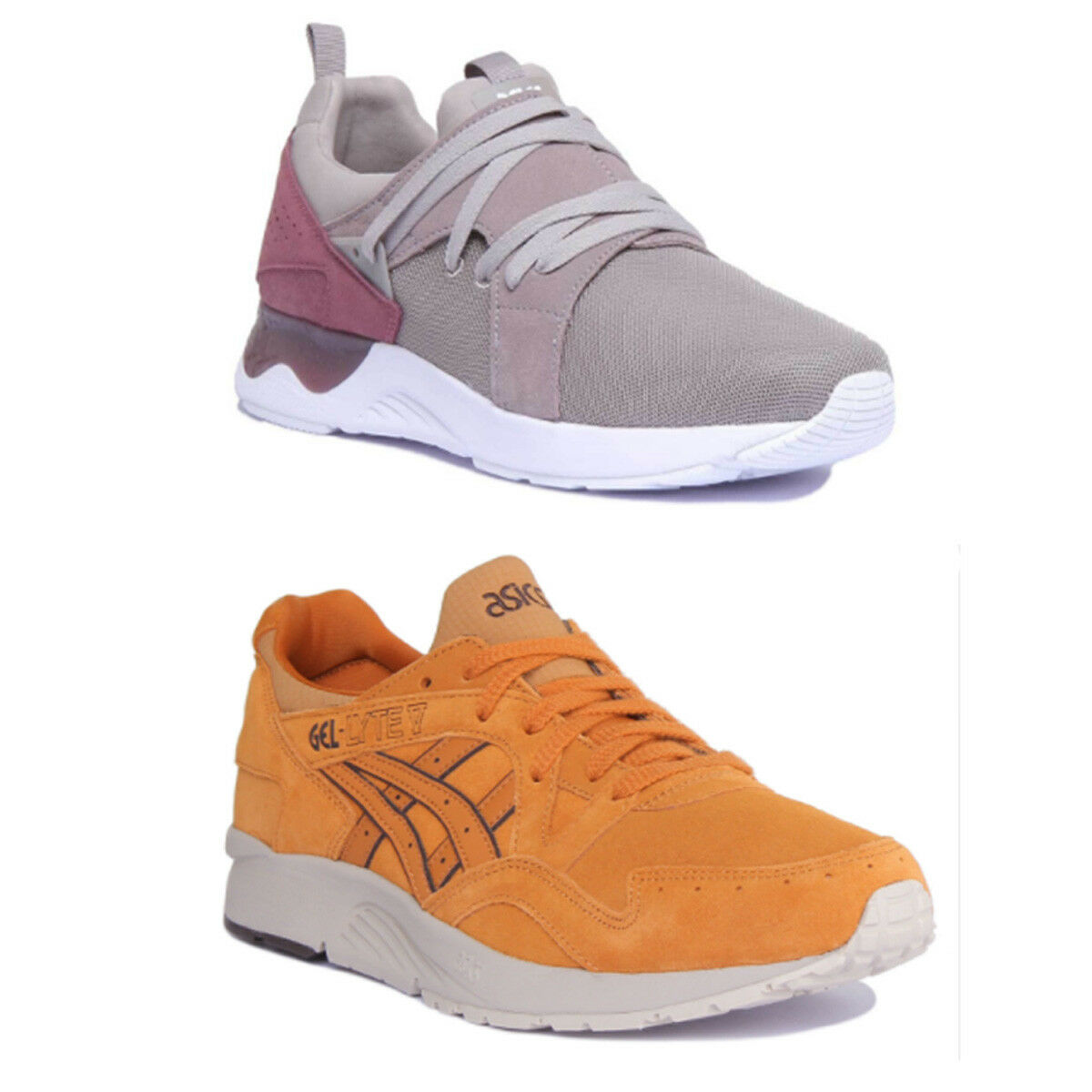 Asics Gel Lyte V hommes Suede Leather Mustard Trainers