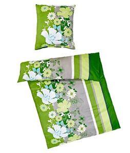 2-piezas-4-Ropa-De-Cama-Verde-Flores-RAYADO-135x200cm-microfibras-poliester