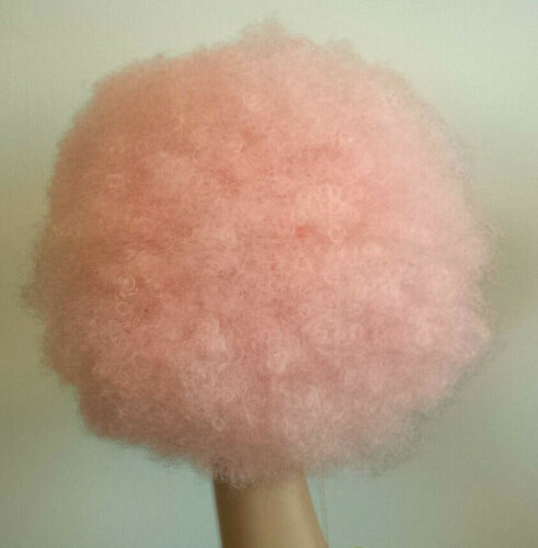 """Large /"""" by Magic Touch Big Pink Afro Wig /""""Afro look like Cotton Candy!"""