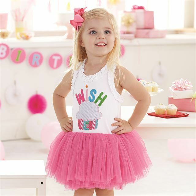 a6df1da29 Mud Pie Mk6 Birthday Girl Party Pink Tutu Pettiskirt Wish Cupcake ...