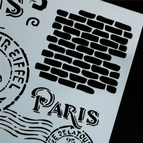 retro paris layering stencils for walls painting scrapbooking stamp album YJ