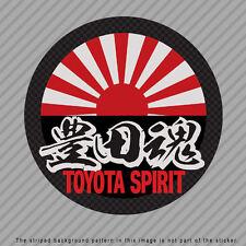TOYOTA Spirit Japanese Kanji Vinyl Decal Sticker JDM SUPRA FR-S 86 MR2  P049_02