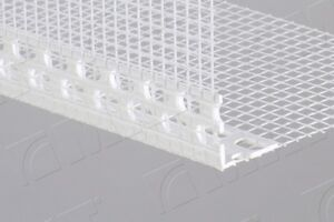 25 x upvc corner meshed angle bead profile 2 5