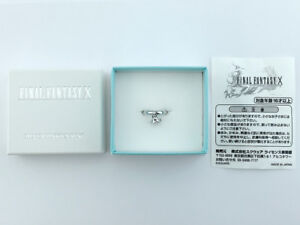Final-Fantasy-X-Silver-925-Yuna-039-s-Pinky-Ring-official-Square-Size-2