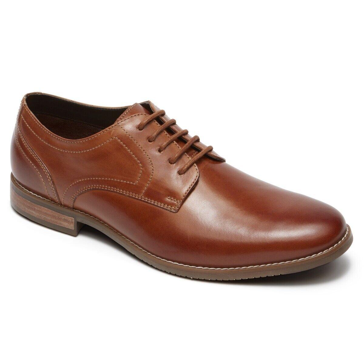 Rockport Symon Oxford Cognac Mens shoes CH1928 MSRP  100
