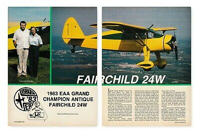 100% Quality Fairchild 24 Aircraft Report 4/30/19j Collectibles
