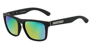 Dirty-Dog-Square-Matte-Black-Monza-Sunglasses-Green-Polarised-FREE-CASE
