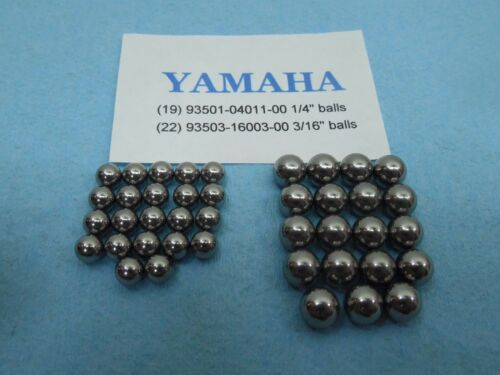 22 small /& 19 big Yamaha ATC ATV Steering Stem Fork new Ball Bearings