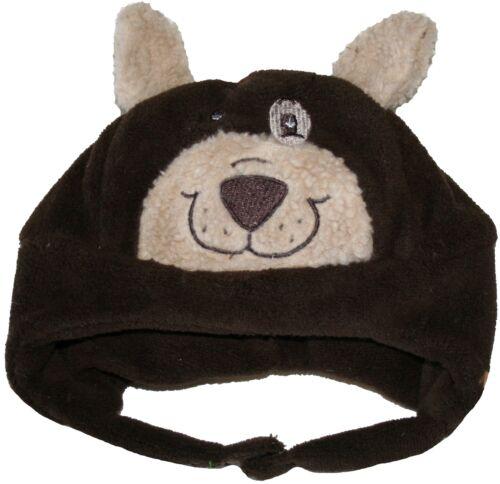 Jiglz Baby Bear Soft Fleece Lined Hat with Ears Chocolate Brown