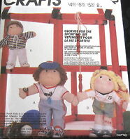 Soft Sculpture Doll Clothes Pattern 12 16 18 Sports Sweatsuit Soccer Ff