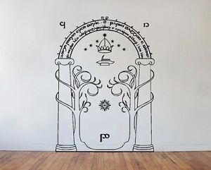Image is loading Lord-Of-The-Rings-Wall-Art-Decal-Sticker- & Lord Of The Rings Wall Art Decal Sticker - Mines of Moria Door LOTR ...