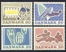 Denmark 1971 Sports/Games/Football/Soccer/Sailing/Swimming/Animation 4v (n38621)