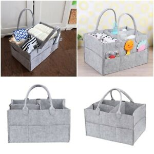 Baby Changing & Nappies UK Felt Infant Baby Diaper Storage Nappy Nursery Organizer Basket Caddy Wipe Bag Changing Bags