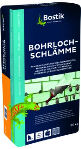 BOSTIK BOHRLOCHSCHLÄMME Verfüllung Bohrlöcher Hohlräumen Rissen Kiesey 25 KG