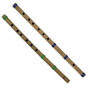 Bamboo Flute Bansuri for Amateurs Fipple and Transverse, Set of 2 - Free Ship