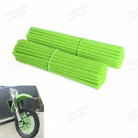 Skin Coat Spoke Wraps Covers 17 To 21 For Dirt Bike,mx Motocross,enduro Green