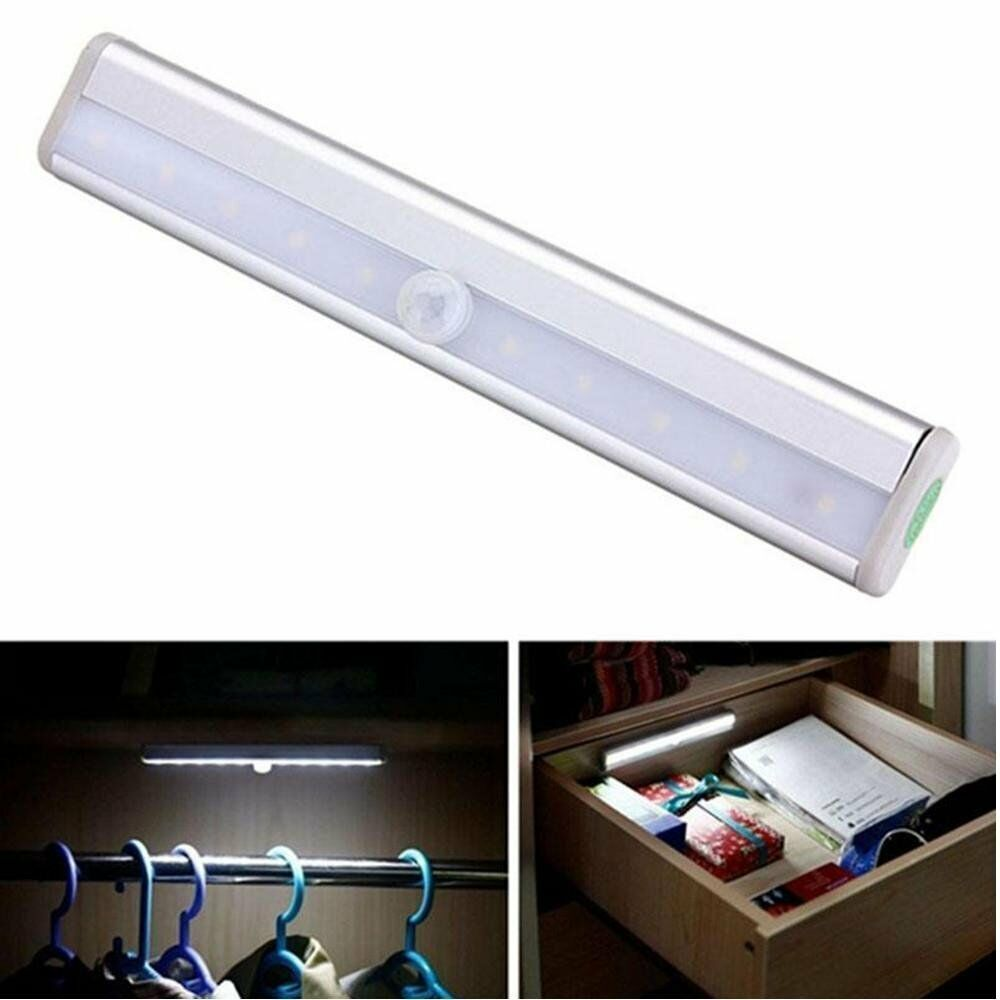 Furniture Accessories Lower Price with 1pcs Light With 6 Led Wireless Pir Motion Sensor Light Wall Cabinet Wardrobe Drawer Lamp Battery