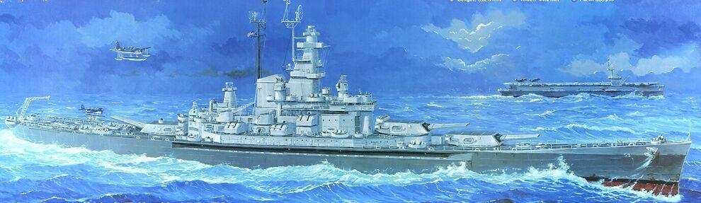 05306 Trumpeter USS Massachusetts BB-59 Battleship 1 350 Model Warship Kit