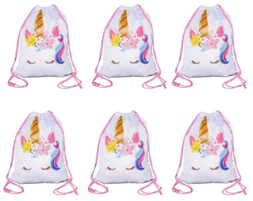 Unicorn Drawstring Bag Unicorn Party Favor Bags Large Size 6