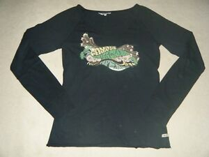 T-Shirt-Manches-Longues-Noir-Vert-Pepe-Jeans-Taille-S