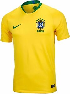 3e8fbd637 Image is loading Brazil-World-Cup-2018-Soccer-Jersey-PLAYER-VERSION-