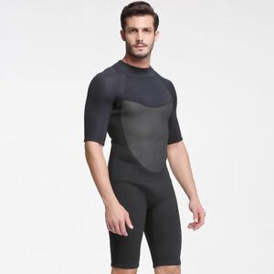 dd76a80eec Details about 2MM Neoprene One Piece Wetsuit Men Scuba Diving Suit Cold  Water Surfing Swimwear