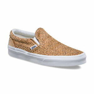 f9a7f03e9f VANS Classic Slip On (Embossed Cork) Natural True White Skate ...