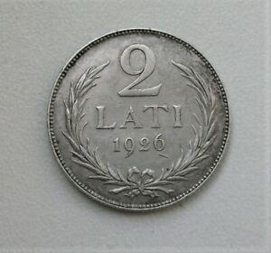 LATVIA 2 LATI 1926 silver .835 coin