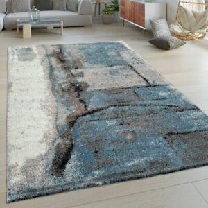 Kurzflor Wohnzimmer Teppich Modern Abstraktes Design Stein Muster In