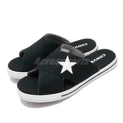 Converse One Star Slide Black White