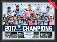 Sydney 2016/17 A-league Champions Sportsprint Framed + Coa Best Price Online