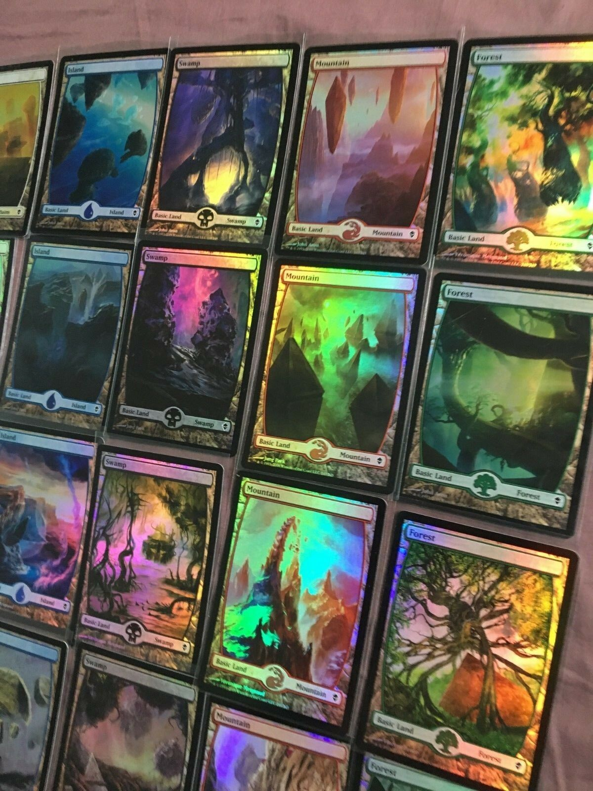 Original OLD ZENDIKAR ZENDIKAR ZENDIKAR 20x FOIL Full-Art Lands Full Collection MTG Funzzzo 522489