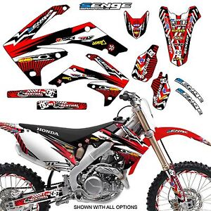 2004 2005 CRF 250R GRAPHICS KIT CRF250R 250 R DECO STICKER DECALS 4-STROKE SENGE