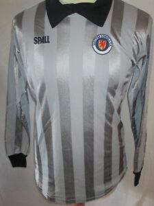 Scotland-Schools-FA-Match-Worn-Goalkeeper-1985-Football-Shirt-with-COA-9675