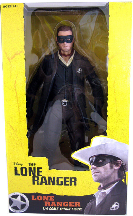 THE LONE RANGER - Lone Ranger 1/4 Scale Action Figure (NECA)  NEW