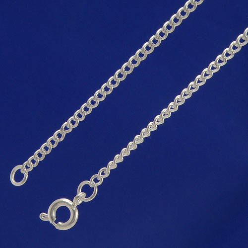 "f001s A Pack of 16/"" Silver Plated fine 2mm Curb Chains"