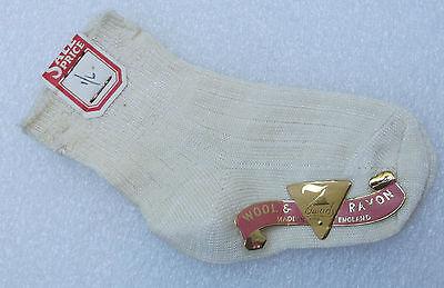 Simbolo Del Marchio Baby Toddler Socks Seven 7 Dwarfs Wool & Rayon Vintage 1950s Childrens Unused