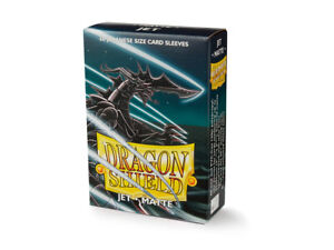 Japanese Matte Jet Case Display Dragon Shield Sleeves - 10x 60 ct Packs