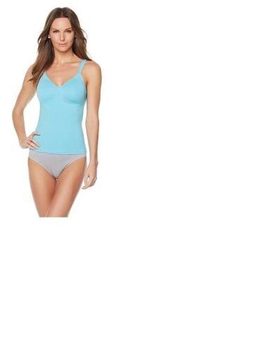 Rhonda Shear  Cotton Molded Cup Camisole-Light Aqua-Large-NWT